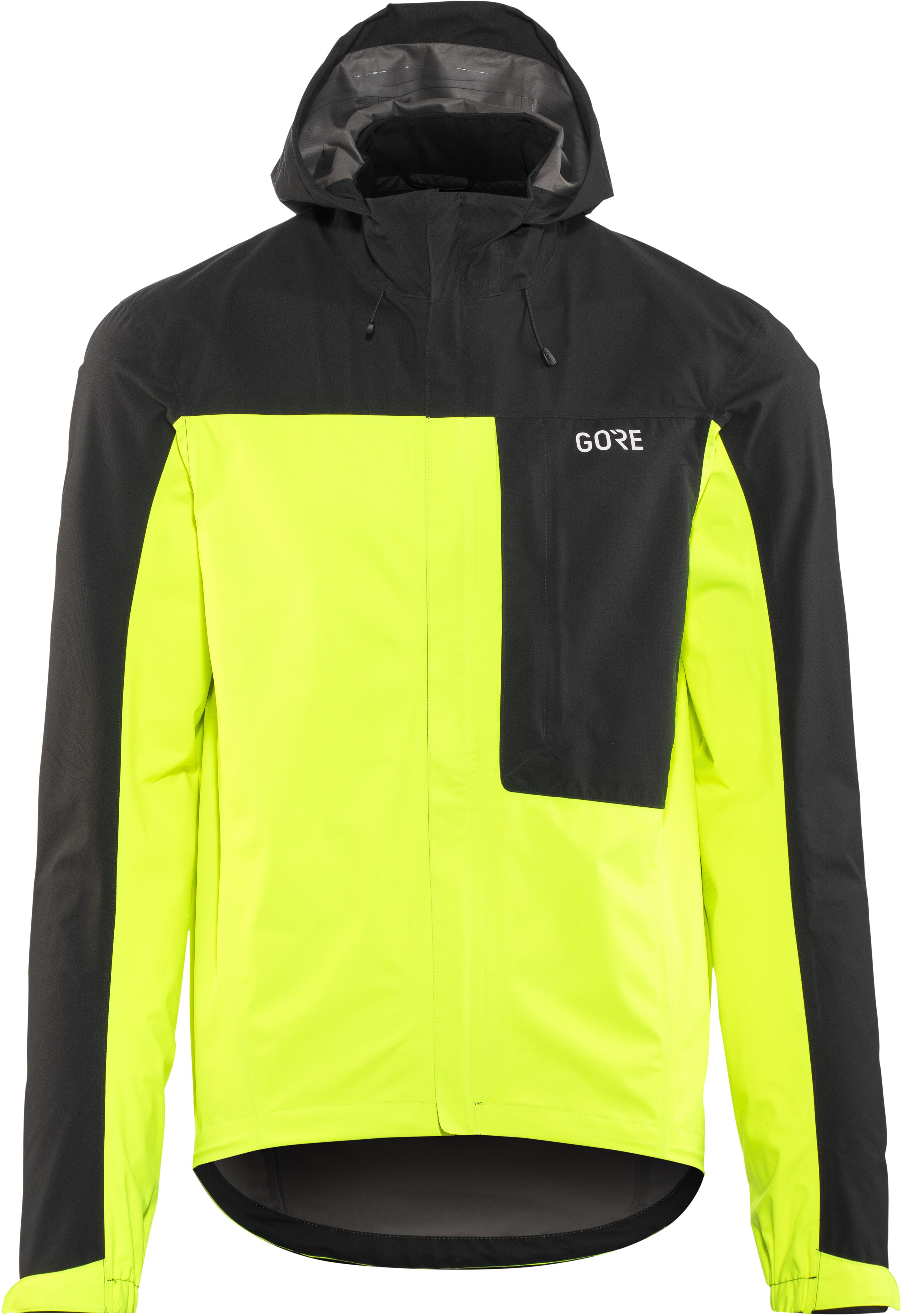 the best attitude 673eb 30c38 GORE WEAR C3 Gore-Tex Paclite Giacca con cappuccio Uomo, neon yellow/black